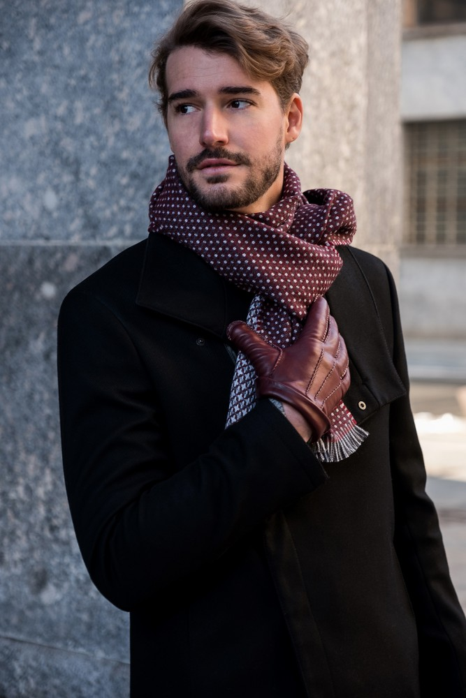 WOOL SCARF - DOUBLE-SIDED